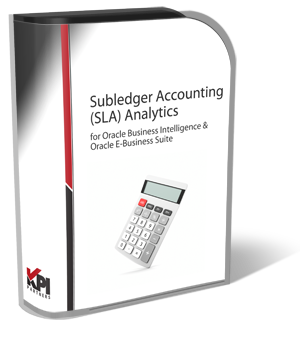SLA Subledger Accounting Analytics Oracle EBS OBIEE
