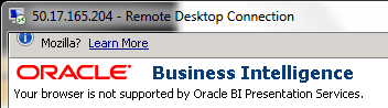 Oracle BI Presentation Services Browser Compatibility Firefox