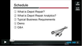 screenshot webinardepotrepairanalytics