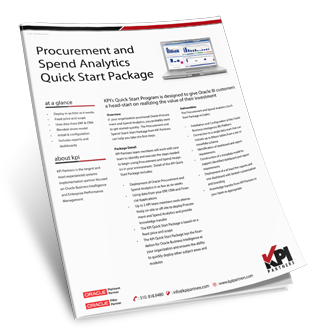 Procurement and Spend Analytics