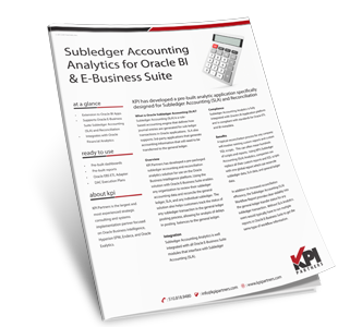 Oracle EBS Sub ledger accounting analytics