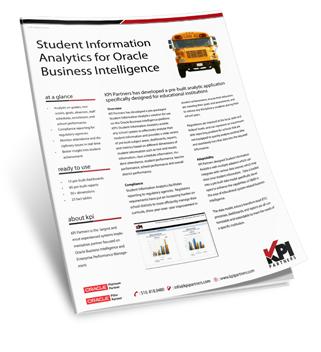 info sheet student information analytics