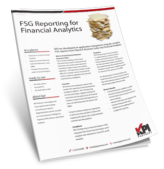 FSG Reporting for Financial Analytics