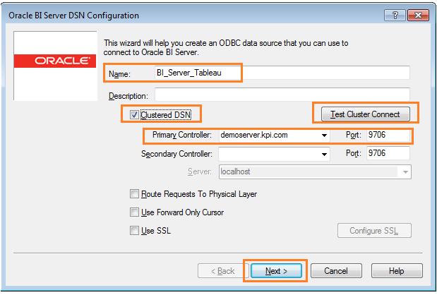 Oracle BI Server Connectivity with Tableau (Part 2)