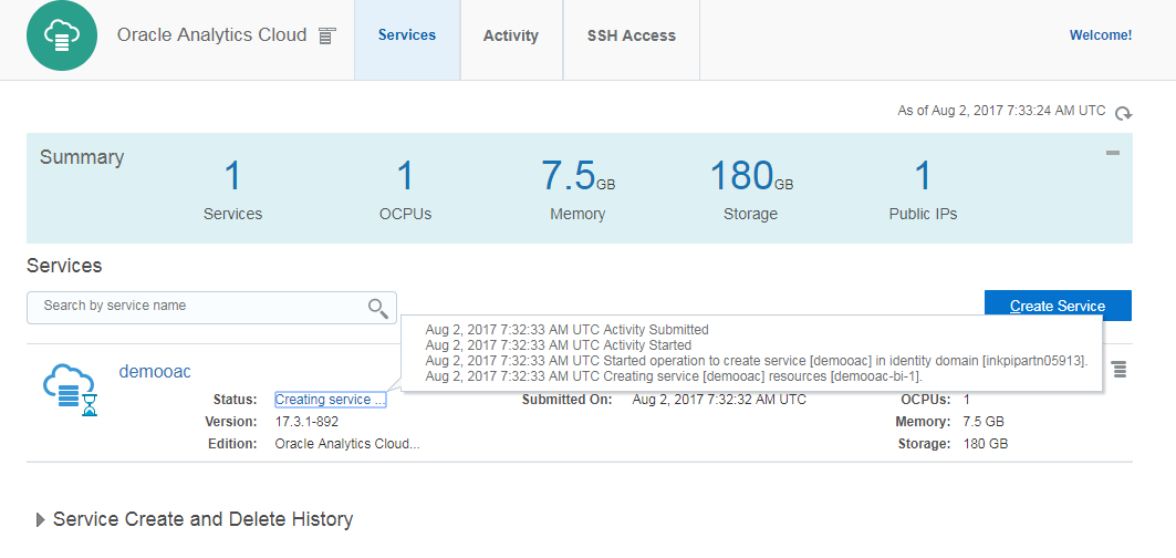 How to Setup Oracle Analytics Cloud Service