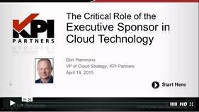 screenshot webinar The Role of the Executive Sponsor in Cloud Technology