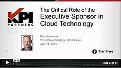 screenshot webinar The Role of the Executive Sponsor in Cloud Technology
