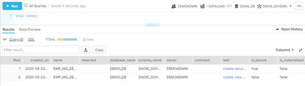 Snowflake Secure Views vs. Views in Oracle
